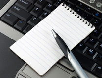 Pen Notebook Computer Royalty Free Stock Image