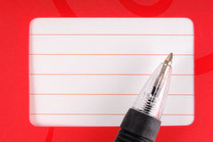 Pen and notebook diary frame Stock Image