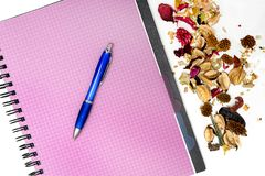 Pen with notebook Royalty Free Stock Photography