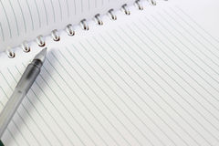 Pen and Notebook Royalty Free Stock Images