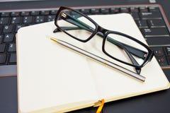 Pen Notebook Laptop Stock Photo