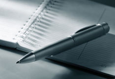 Pen and notepad Royalty Free Stock Photography