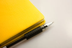 Pen and notepad. Put a pen and notebook with Royalty Free Stock Image