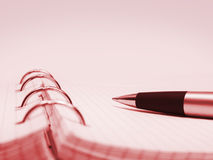 Pen and notepad Royalty Free Stock Photos