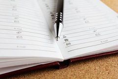Pen and notepad Royalty Free Stock Photo