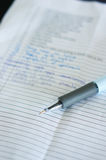 Pen and notes Royalty Free Stock Photo