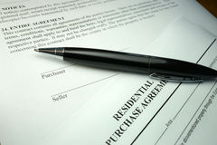 Pen o property purchase agreement Stock Photography