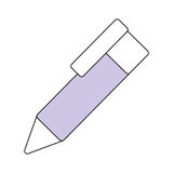 Pen office isolated. Icon vector illustration graphic design Royalty Free Stock Photos
