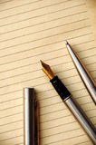 Pen and Old Paper Royalty Free Stock Image