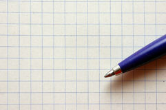 Pen On Empy Piece Of Paper. Stock Photo