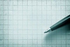Pen On Empy Piece Of Paper. Stock Images