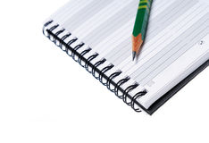 Pen op blocnote Royalty-vrije Stock Foto
