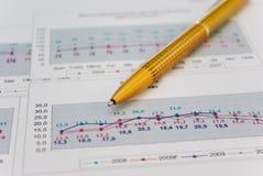 Pen op grafiek Royalty-vrije Stock Fotografie