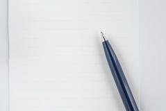 Pen op het document Royalty-vrije Stock Foto's