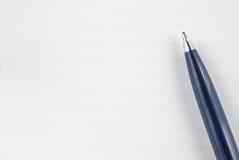 Pen op het document Royalty-vrije Stock Afbeelding