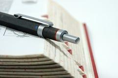 Pen op Rand Stock Afbeelding