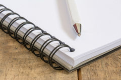 Pen on open book Royalty Free Stock Photo
