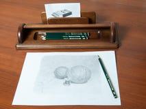 Pen organiser. Hand made pen and pencil organiser Royalty Free Stock Photo