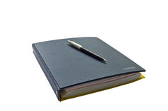The pen on the organizer Royalty Free Stock Photo