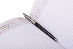 Pen in organizer Stock Photography