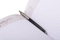 Pen in organizer Stock Photography