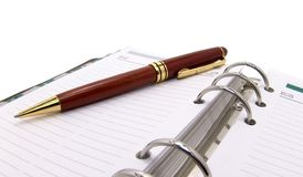 Pen and organizer Royalty Free Stock Image