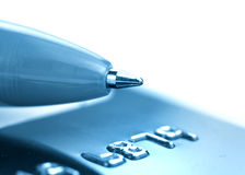 Pen over credit card Stock Photography