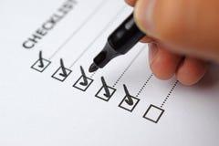 Pen Over Filled Checkboxes image libre de droits