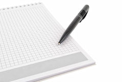 Pen over note pad  book Royalty Free Stock Photos