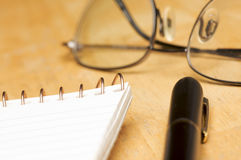Pen, Pad and Glasses Abstract Royalty Free Stock Photos