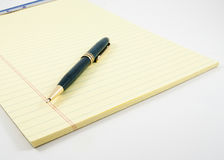 Pen and Pad Royalty Free Stock Photo