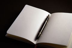 Pen Between the Pages. A pen between the pages of a book Royalty Free Stock Images