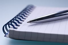 Pen and paper Stock Image