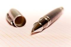 Pen on paper Stock Photo