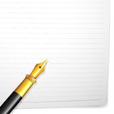 Pen on Paper Royalty Free Stock Photo