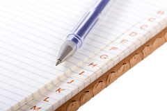 Pen and paper. Royalty Free Stock Photography