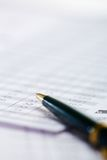 Pen on paper Royalty Free Stock Photography