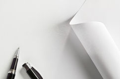 Pen and paper Royalty Free Stock Photos