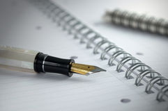 Pen and paper Royalty Free Stock Photography