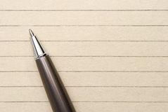 Pen on paper Stock Image