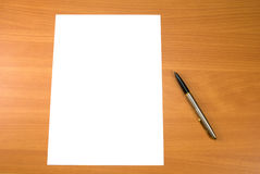 Pen and paper Stock Photography