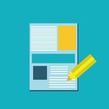 Pen and paper icon Royalty Free Stock Photography