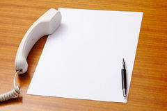 Pen and paper for text Stock Photography