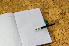 Pen, paper. A textured background. Copy paste place Stock Images