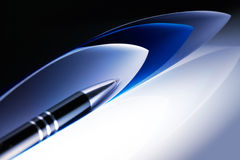 Pen with papers Stock Photos