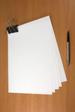 Pen and papers Stock Photo