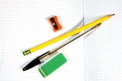 Pen and pencil Stock Photos