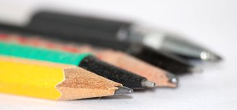 Pen pencil Royalty Free Stock Images