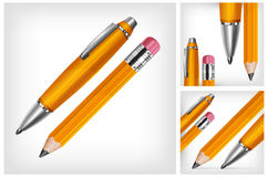 Pen & pencil Royalty Free Stock Photos