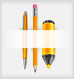 Pen, pencil and marker Royalty Free Stock Photography